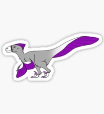Greysexual Utahraptor Sticker