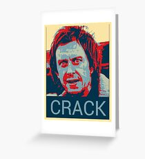 Peep Show Super Hans Crack Poster Greeting Card