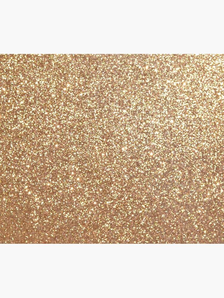 Copper Rose Gold Metallic Glitter by podartist