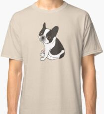 Say hello to the cute double hooded pied French Bulldog Classic T-Shirt