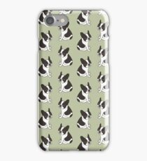 Say hello to the cute double hooded pied French Bulldog iPhone Case/Skin