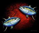 Yellowfin Tuna School by David Pearce
