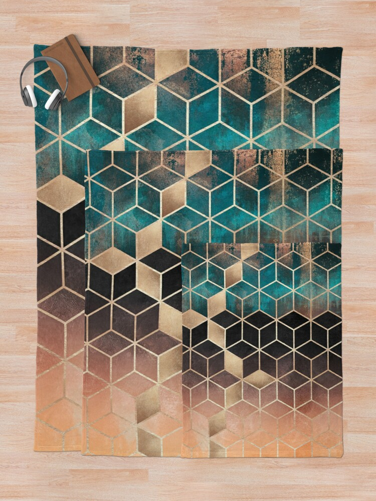 Alternate view of Omre Dream Cubes Throw Blanket