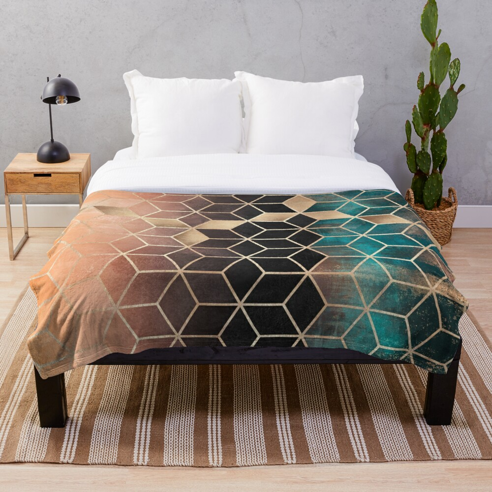 Omre Dream Cubes Throw Blanket