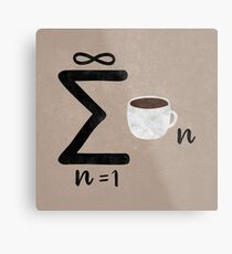 Infinite Coffee Metal Print