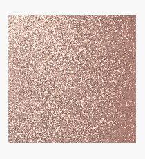 Pink Rose Gold Metallic Glitter Photographic Print