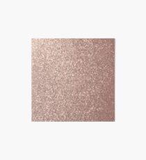 Pink Rose Gold Metallic Glitter Art Board