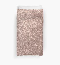 Pink Rose Gold Metallic Glitter Duvet Cover