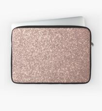 Pink Rose Gold Metallic Glitter Laptop Sleeve