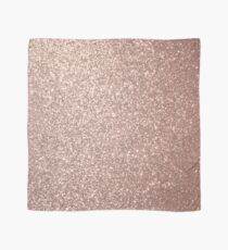 Pink Rose Gold Metallic Glitter Scarf