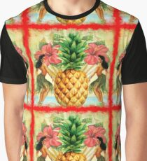 Vintage Tropical Pineapple Motif  Graphic T-Shirt