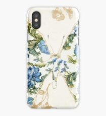 Winged Tapestry Blue Butterfly iPhone Case/Skin