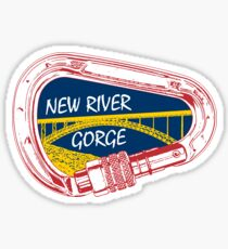 New River Gorge Climbing Carabiner Sticker