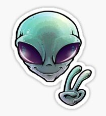 Peace Alien Sticker