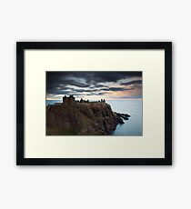 dunnottar castle sunset Framed Print
