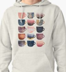 Pretty Coffee Cups 2 Pullover Hoodie