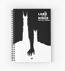 The Twin Towers Poster Interpretation Spiral Notebook
