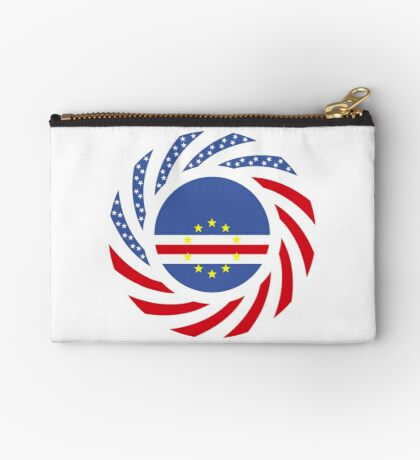 Cape Verdean American Multinational Patriot Flag Series 1.0 Zipper Pouch