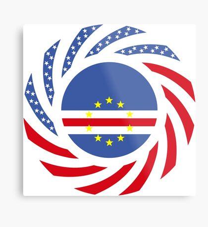 Cape Verdean American Multinational Patriot Flag Series 1.0 Metal Print