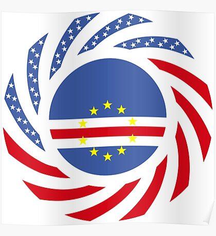 Cape Verdean American Multinational Patriot Flag Series 1.0 Poster