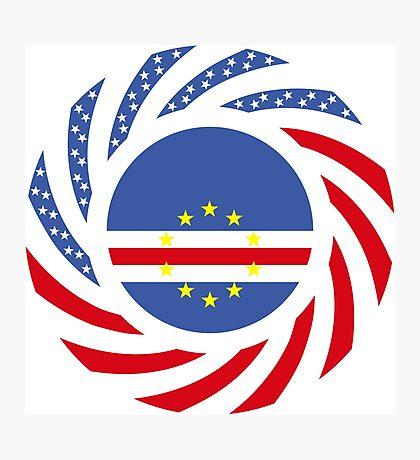 Cape Verdean American Multinational Patriot Flag Series 1.0 Photographic Print