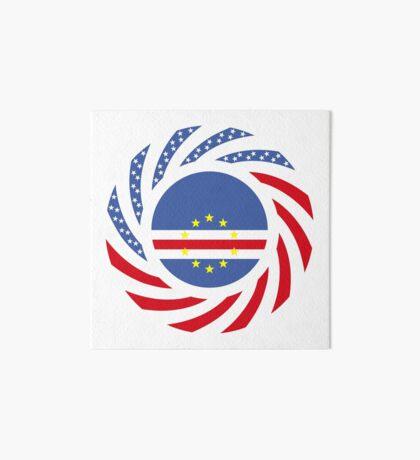Cape Verdean American Multinational Patriot Flag Series 1.0 Art Board Print