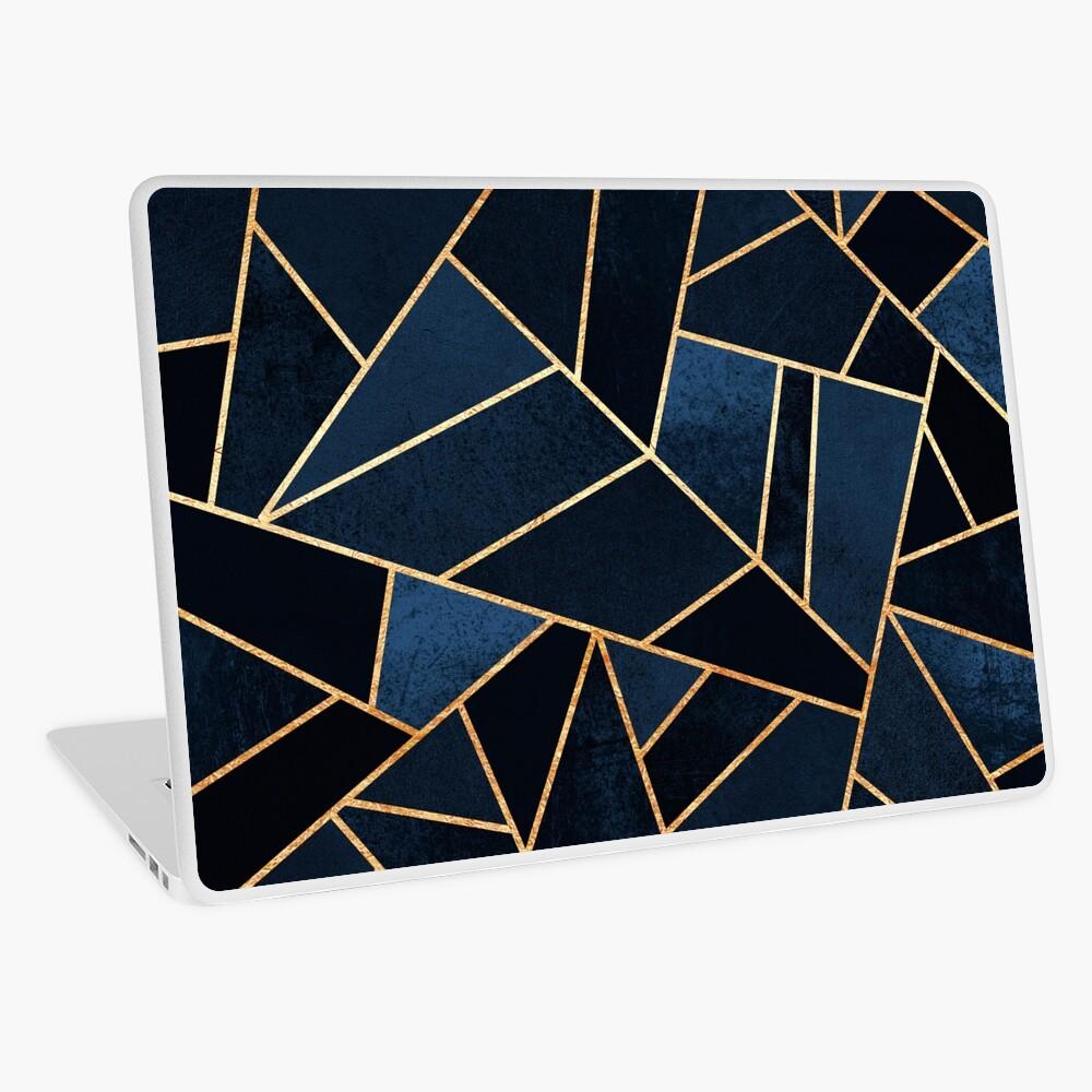 Navy Stone Laptop Skin