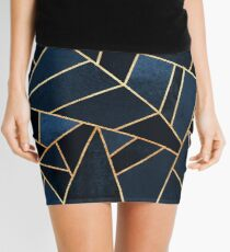 Navy Stone Mini Skirt