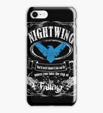 nightwing - label whiskey style iPhone Case/Skin