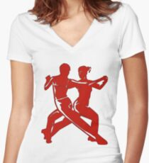 Dance Women's Fitted V-Neck T-Shirt