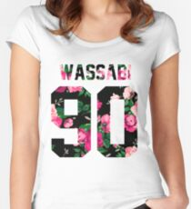 Alex Wassabi - Colored Flowers Women's Fitted Scoop T-Shirt