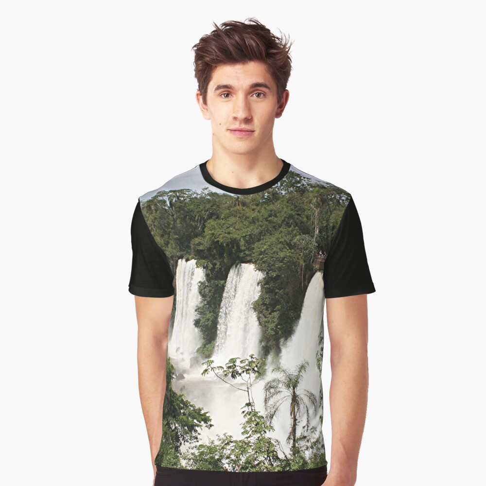 Iguazu Falls, Argentina, South America Graphic T-Shirt Front