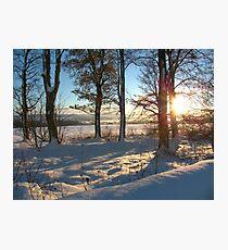 Snow Scene Photographic Print