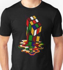Melting Rubik's Cube Shirt Funny T-Shirt