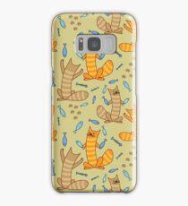 Cat juggling fish Samsung Galaxy Case/Skin