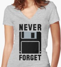 "Silicon Valley - Erlich's ""Never Forget"" T-Shirt & Memorabilia Women's Fitted V-Neck T-Shirt"