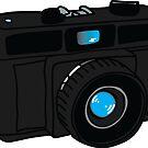 Black Retro Camera by WayneYoungArts