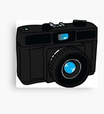Black Retro Camera Canvas Print