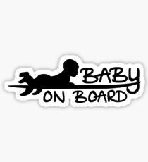Baby on [Surf] Board Sticker