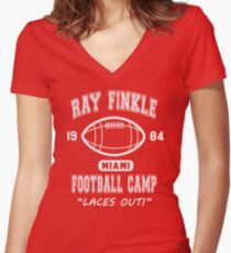 Ray Finkle Football Camp - Ace Ventura Women's Fitted V-Neck T-Shirt