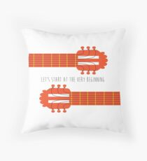 Guitar sound of music Throw Pillow