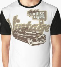 Vintage Automobile Cruise Night Graphic T-Shirt