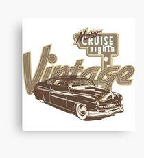 Vintage Automobile Cruise Night Canvas Print
