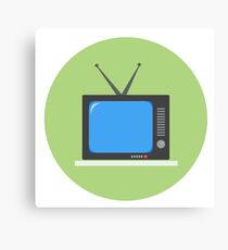 Retro television Canvas Print