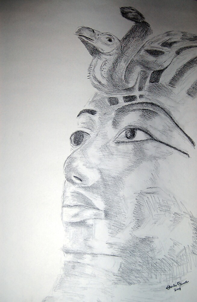 Kemetic Reflection - King Tutanhkamun  by Charles Ezra Ferrell