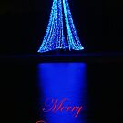 Blue Tree Merry Christmas Card by BobJohnson