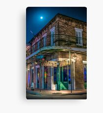 Moon Indigo Canvas Print