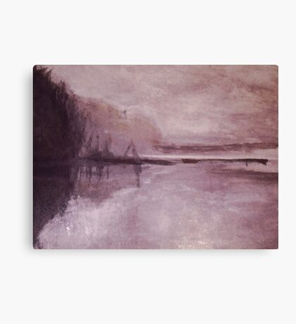 Pond at Winter Canvas Print