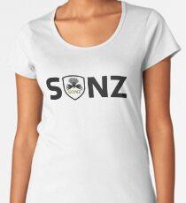 SONZ Logo and Shield - Carbon Fibre Edition Women's Premium T-Shirt