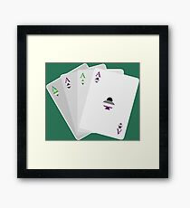 Aces Framed Print